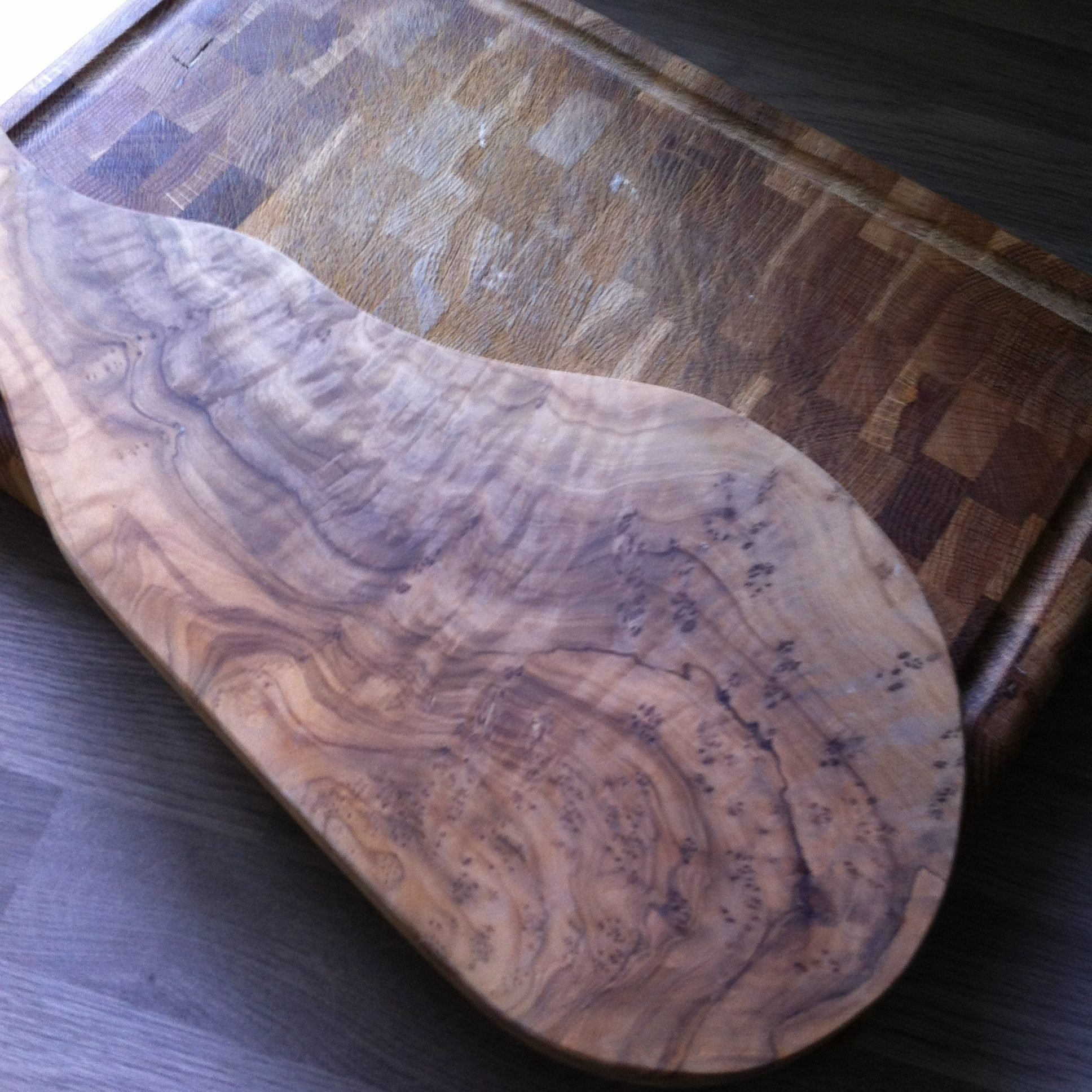 two wooden chopping boards