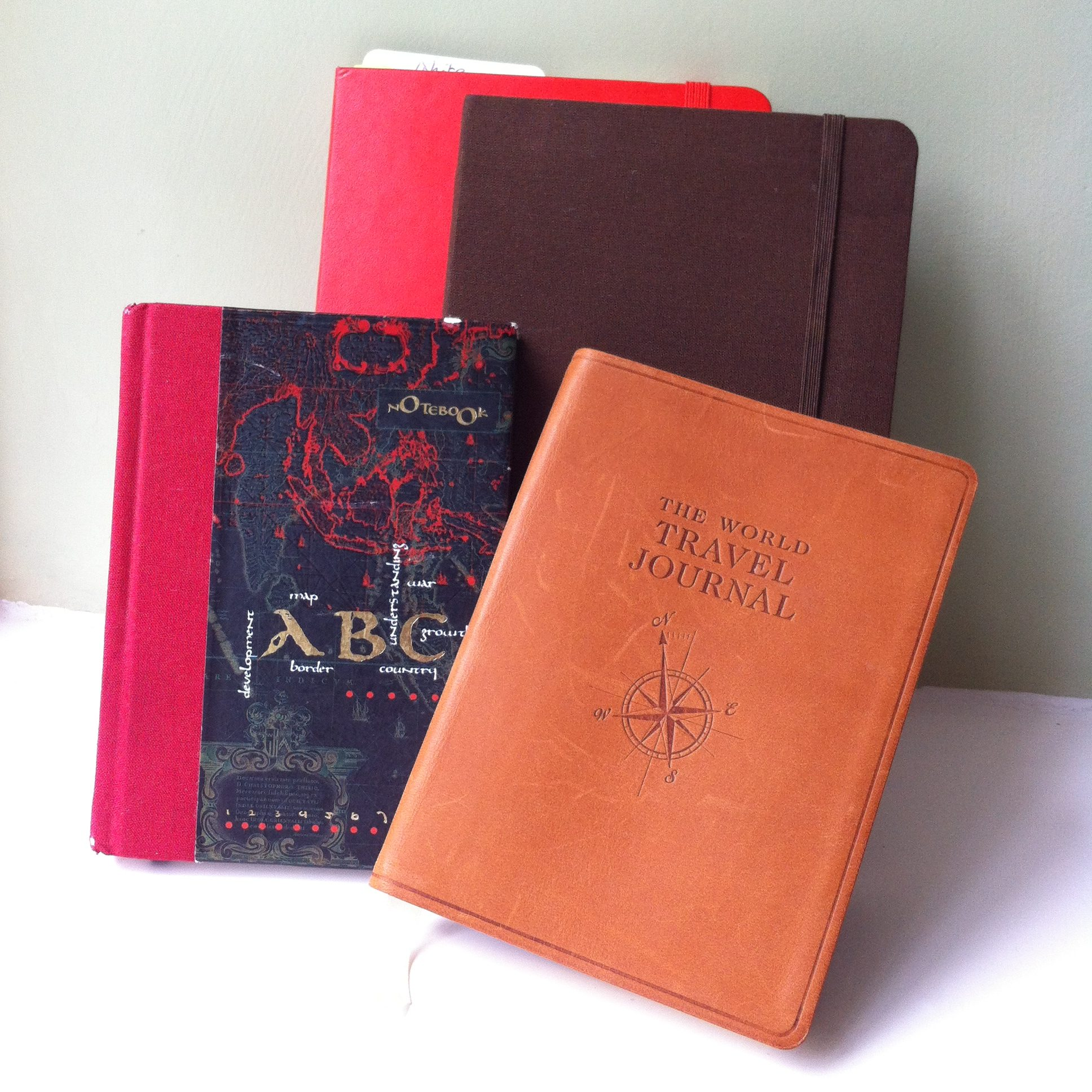four journals to jot notes in